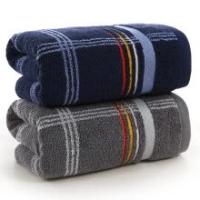 8750203-KINGSHORE towel GA1113 cotton satin thick striped absorbent towel gray brown 2 pieces 70 * 34cm 115g / on JD