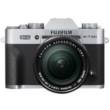 875072536-Fuji (FUJIFILM) X-T20 (XF 18-55) micro single electric machine silver 24.3 million pixel XT20 folding touch screen 4K on JD