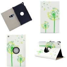 -Green Dandelion Style 360 Rotating Flip Cover with Stand Function and Credit Card Slot for Amazon Kindle Fire HD 8 2016 on JD