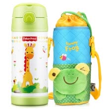 -The United States Fisher-Price  baby sucker cup baby learn cup handle training cup drinking kettle (including cup sets) 320ML green on JD