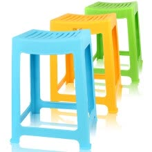 8750213-Camellia stool plastic chair thickening stripes 35cm high school square stool 0848 on JD
