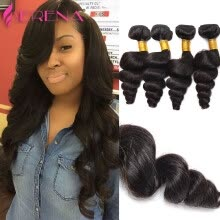 -Indian Virgin Hair Beach Wave 4 Bundles Aliexpress Remy Human Hair Indian Loose Deep Weave Queen Hair Products A+ on JD