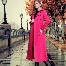 875061821-DF · RS 2016 new women's British autumn and winter coat retro trench coat long thin European and American fashion trench coat on JD