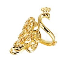 -Yoursfs@ Fashion Gold - plated rings ring for women Peacock   shape Gold fashion tail ring on JD