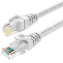 -Shanze (SAMZHE) six types of cable CAT6 Gigabit high-speed network line indoor and outdoor 8-core cable 6 class computer TV router cable GRE-6050 white 5 meters on JD