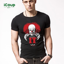 -2017 Summer On Sale men's t shirts short-sleeved clothes Letter Pennywise Printing of Cotton on JD