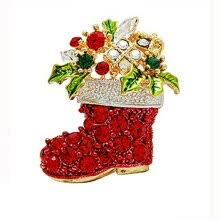 875062454-Yoursfs@ Christmas Gifts Nice Red Shoe Boot Brooches Pins for Women Full Rhinestones Christmas Brooches for the New Year on JD