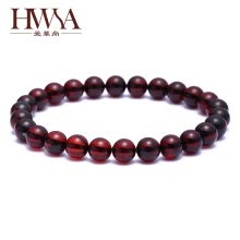 875062462-Ai Hua Shang (HWSA) blood hand string 6.5-7mm amber with certificate on JD