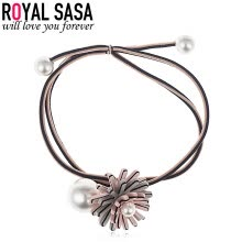 -Royal Sasa (Royalsasa) headdress hair accessories hair hair ring rope rope acrylic imitation pearl gray pink on JD