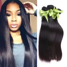 -Malaysian Virgin Hair Straight 3 Bundles Rosa Hair Products Malaysian Straight Hair Unprocessed Malaysian Human Hair Weave on JD