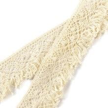 -10m Vintage Fringe Cotton Lace Edge Trim Tassel Ribbon DIY Sewing Craft on JD