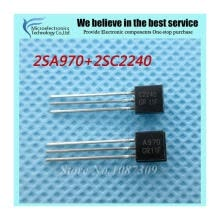 -50pcs free shipping 2SA970 2SC2240 (25PCS* A970 +25PCS* C2240 ) TO-92 Bipolar Transistors - BJT NPN Gen Pur SS new original on JD