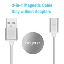 875061539-Keymao Magnetic Phone Charger Cord Cable Type-C Micro USB kabel data with 1 Holder Pack for Android iPhone on JD