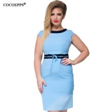 -COCOEPPS L-6XL green women dresses big sizes NEW 2017 plus size women clothing 6xl mini dress casual o-neck office bodycon Dress on JD