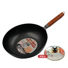 -[Jingdong supermarket] pearl life (Japan high-purity wok) health uncoated pans convex physical anti-stick 30cm induction cooker wok Jingdong self on JD