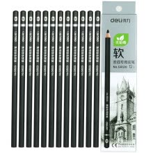 -Deli (deli) 58122 Art sketching charcoal graphite pencil hard case 12 boxed on JD