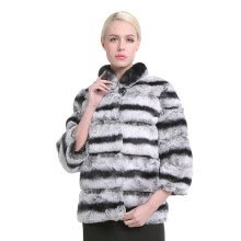 fur-SARSALLYA New Real Fur Winter Jacket Women Mandarin Collar Short Thick Warm Winter Women Rex Rabbit Coat Real Natural Fur Coat on JD