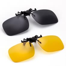 -Jimmy Orange polarized sunglasses clips for men and women driving mirror sunglasses driver day and night driving anti-high beam glasses JO205ZH clips set large models on JD