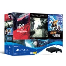 875062512-Sony (SONY) [PS4 National Host] PlayStation 4 masterpiece game console host 500GB (black) with four games on JD