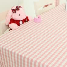 -Jinhua Chinese New Year powder small plaid tablecloth waterproof garden table cloth Continental simple rectangular coffee table cloth style spring pink lace section tablecloth 130 * 180cm on JD