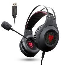-NUBWO N2 computer headset music game headset K song heavy bass USB with microphone voice black on JD