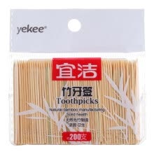 -Yekee Bamboo Toothpicks 200-PCS on JD
