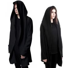 hoodies-Men Hooded Sweatshirts With Black Gown Best Quality Hip Hop Mantle Hoodies Fashion Jacket long Sleeves Cloak Man's Coats Outwear on JD