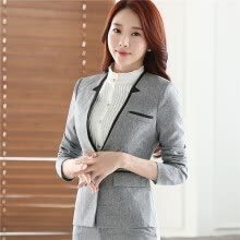 -Career long sleeve plus size women blazer New OL formal slim jackets office ladies work wear uniform blazer feminino manga longa on JD