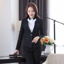 -Formal Elegant Black Slim Fashion Blazer Women Outerwear Jackets Coat Ladies Office Uniform Style Business Work Wear Tops on JD