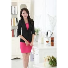 -New Elegant Green Half Sleeve Formal Professional Blazers Jackets For Ladies Office Blazer Coat Female Tops Business Clothes on JD
