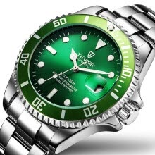 -New Fashion Luxury Luminous Green Water Ghost Full Automatic Mechanical Wristwatch Stainless Steel Belt  Waterproof  Men's Watches on JD