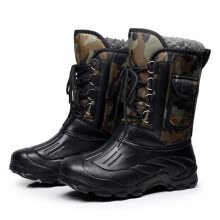 875062322-Autumn Winter Warm Men Fashion Snow Boots Military Fishing Skiing Waterproof Simple Casual Mid-calf Shoes on JD