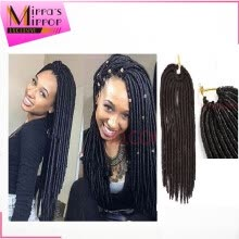 -Mirra's Mirror 14in 18in Crochet Braid Hair 6pcs faux locs 24 Strands Synthetic Twist Hair Extensions Kanekalon Xpression Braids on JD