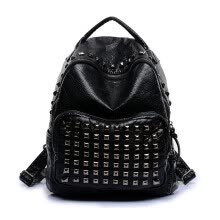 b92e172e8f Washed leather shoulder bag 2016 new Korean fashion rivets backpacks travel  backpack Brand school bags for girls