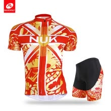 -Nuckily summer mens dragon print design cycling jersey and shorts AJ209BK268 on JD