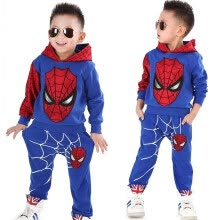 -Spiderman Child Sports Suit 2 Pieces Set Tracksuits Boys Clothing Sets Coat+Pant Christmas Gift for Kid Fashion on JD