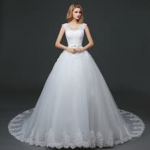-Wedding dresses, 2017 new styles, big shoulder, big tail on JD