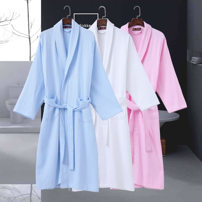 cf8294e9cc Cotton Men Bathrobe Stain Robe Man s Sleepwear Soft Robe Nightgown for Male Pajamas  Gown Lounge Wear Spring Summer