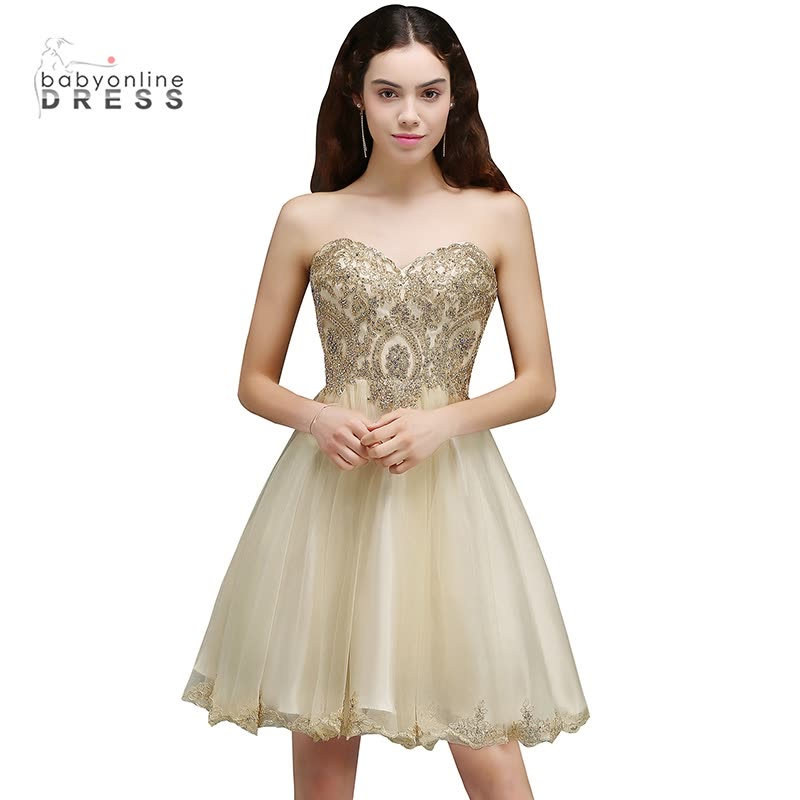 e00588a64 2018 New Arrival Lovely Short Appliques Lace-Up Sweetheart Homecoming  Dresses