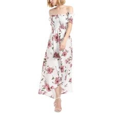 a03405d09bc2 Twippo Women Off Shoulder Dress Summer Long Split Beach Dress