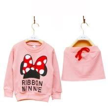 a856f1801 Ropa de niña pequeña linda establece niños niños MinnieClothes camiseta de dibujos  animados + falda 2pcs establece chándales sudaderas con capucha + ...